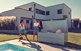 ILESTO Aufbewahrungsbox aus Stahl, Ben (692L): Auflagenbox wasserdicht XL | Kissenbox für Ihren Garten 165x85x69cm | Stauraum für den Außenbereich | Silber Metallic - 6