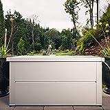 ILESTO Aufbewahrungsbox aus Stahl, Ben (692L): Auflagenbox wasserdicht XL | Kissenbox für Ihren Garten 165x85x69cm | Stauraum für den Außenbereich | Silber Metallic - 4
