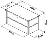 ILESTO Aufbewahrungsbox aus Stahl, Benni-Boy (401L): Auflagenbox wasserdicht L | Kissenbox für Ihren Garten 135x65x69cm | Stauraum für den Außenbereich | Anthrazit - 6