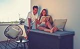 ILESTO Aufbewahrungsbox aus Stahl, Benni-Boy (401L): Auflagenbox wasserdicht L | Kissenbox für Ihren Garten 135x65x69cm | Stauraum für den Außenbereich | Anthrazit - 5