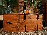 Holzkiste Holztruhe Couchtisch Kaffeetisch, shabby chic, Tisch, Truhe, Kiste Länge: 80 cm Höhe: 45 cm Tiefe: 50 cm - 4