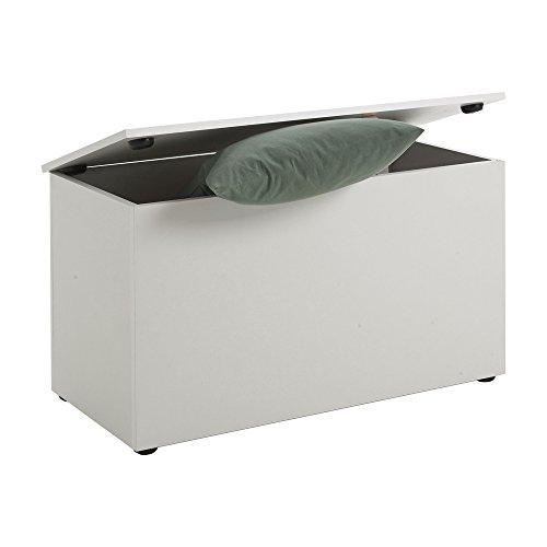 FMD Möbel Sitztruhe Hocki 2, weiß, 80x40x45cm