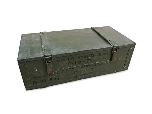WoMa Kreativ 1 x Originale Munitionskiste Holzkiste aus Holz, Lagerkiste Werkzeugkiste, Transportkiste, Truhe, Dekokiste