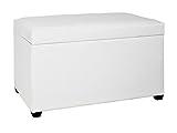 HAKU Möbel Sitztruhe mit weißem Kunstleder, klappbar, 65cm