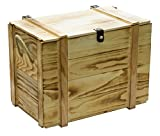 Kistenkolli Altes Land Weinkiste 12er geflammt inkl. Holzwolle/Holzkiste/Geschenkbox/Aufbewahrungsbox/Überraschungskiste/Weinbox/Hochzeitskiste (12er Weinbox)