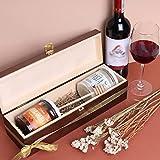 Creative Deco Braune Wein-Kiste aus Natürliches Kiefern-Holz   Wein-Box für 1 Flasche mit Deckel und Verschluss   35,1 x 11 x 10 cm   Perfekt für Lagerung, Dekoration oder als Geschenk-Holzkiste - 3