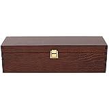 Creative Deco Braune Wein-Kiste aus Natürliches Kiefern-Holz   Wein-Box für 1 Flasche mit Deckel und Verschluss   35,1 x 11 x 10 cm   Perfekt für Lagerung, Dekoration oder als Geschenk-Holzkiste - 7