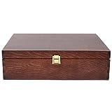 Creative Braune Deco Wein-Kiste aus Natürliches Kiefern-Holz | Wein-Box für 3 Flaschen mit Deckel und Verschluss | 35 x 30 x 10 cm | Perfekt für Lagerung, Dekoration oder als Geschenk-Holzkiste - 6