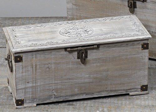 Wunderschöne Holztruhe Truhe Holzbox, geschlämmt, 68x30x33cm