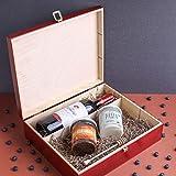 Creative Deco Rote Wein-Kiste aus Natürliches Kiefern-Holz | Wein-Box für 3 Flaschen mit Deckel und Verschluss | 35 x 30 x 10 cm | Perfekt für Lagerung, Dekoration oder als Geschenk-Holzkiste - 2
