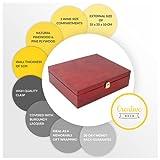 Creative Deco Rote Wein-Kiste aus Natürliches Kiefern-Holz | Wein-Box für 3 Flaschen mit Deckel und Verschluss | 35 x 30 x 10 cm | Perfekt für Lagerung, Dekoration oder als Geschenk-Holzkiste - 7