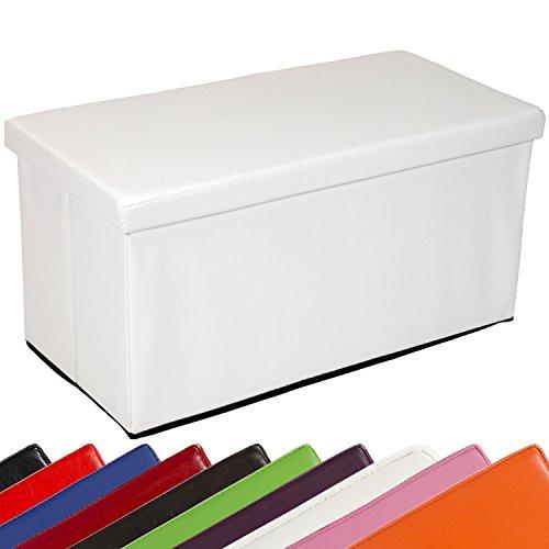 """STILISTA® Sitzwürfel """"BIGBOX"""", 76x38x38cm, MDF + Kunstleder, faltbar, 10 Farbvarianten"""