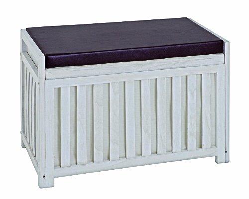 HAKU Möbel 26320 Bank, weiß gewischt, 65x33x46cm