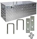 Truckbox Deichselbox Box Werkzeugkiste Anhängerbox Alubox Aluminium D210 inkl. Montagesatz Trucky