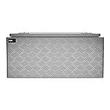 MSW Alubox abschließbar Werkzeugkasten ATB-910 Deichselbox 119 L Transportbox Metallbox mit Deckel Riffelblech 91 x 44,5 x 43 cm Aluminiumbox