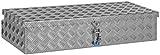 """Deichselbox, Premium, aus Alu Riffelblech 2,5/4 mm, Staubox, Truckbox, Werkzeugkasten, Gurtkiste, B 914 x H 190 x T 387 mm Inhalt: ca. 65 Ltr.""""Made in Germany"""""""