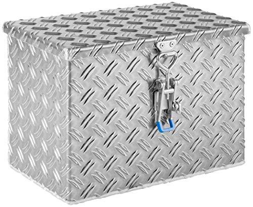 """Deichselbox, Premium, aus Alu Riffelblech 2,5/4 mm, Staubox, Truckbox, Werkzeugkasten, Gurtkiste - B 414 x H 300 x T 257 mm, Inhalt: 45 Ltr.""""made in Germany"""""""