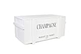 Uncle Joe´s Truhe Holzkiste Champagne, 85 x 45 x 46 cm, Holz, Weiss, Vintage, Shabby chic Couchtisch, 85x45x46 cm
