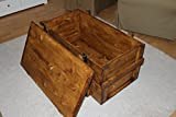 Uncle Joe´s Truhe Holzkiste, 85 x 45 x 48 cm, Holz, Hellbraun, Vintage, Shabby chic Couchtisch, braun, 85x45x48 cm - 5