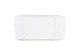Uncle Joe´s Truhe Holzkiste, 85 x 45 x 46 cm, Holz, Weiss, Vintage, Shabby chic Couchtisch, 85x45x46 cm