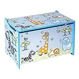 Bieco Spielzeugtruhe und Sitzbank | Aufbewahrungsbox Kinder | Holzkiste mit Deckel | Sitzbank mit Stauraum | Spielzeugkiste mit Deckel | Truhe Holz | Aufbewahrung Kinderzimmer | Spielzeugkiste Holz