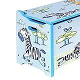 Bieco Spielzeugtruhe und Sitzbank | Aufbewahrungsbox Kinder | Holzkiste mit Deckel | Sitzbank mit Stauraum | Spielzeugkiste mit Deckel | Truhe Holz | Aufbewahrung Kinderzimmer | Spielzeugkiste Holz - 3