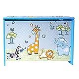 Bieco Spielzeugtruhe und Sitzbank | Aufbewahrungsbox Kinder | Holzkiste mit Deckel | Sitzbank mit Stauraum | Spielzeugkiste mit Deckel | Truhe Holz | Aufbewahrung Kinderzimmer | Spielzeugkiste Holz - 4