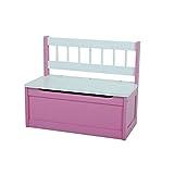 VARILANDO® Kinder-Truhenbank in 2 bezaubernden Farbvarianten Sitzbank Kinderbank Kindermöbel Kinder-Möbel (Pink)