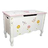 Fantasy Fields Childrens Princess & Frog Kids Holz-Spielzeugkiste W-7462A - 7