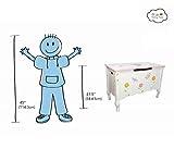 Fantasy Fields Childrens Princess & Frog Kids Holz-Spielzeugkiste W-7462A - 5
