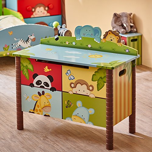 Fantasy Fields Childrens Sunny Safari Kids Holz-Spielzeugkiste W-8269A - 10