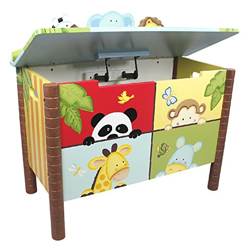 Fantasy Fields Childrens Sunny Safari Kids Holz-Spielzeugkiste W-8269A - 3