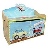 Fantasy Fields Children Transportation Kids Holz-SpielzeugkisteStorage W-9940A