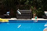 Koll Living Gartenbank Patio Braun - 227 Liter Stauraum - ca. 272 kg belastbar - mit Verschlussmöglichkeit - der Blickfang im Garten - 4