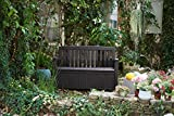 Koll Living Gartenbank Patio Braun - 227 Liter Stauraum - ca. 272 kg belastbar - mit Verschlussmöglichkeit - der Blickfang im Garten - 6