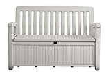 Koll-Living Gartenbank/Aufbewahrungsbox/Auflagenbox Farbe Weiß - 227 Liter - Deckel belastbar bis 272 KG - Belüfteter Innenraum - kein übler Geruch oder Schimmel - Modell 2020