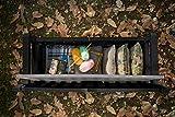 Koll Living Garden Gartenbank mit 265 Liter Stauraum - mit Verschlussmöglichkeit - Moderne Holzoptik aus wetterfestem Polypropylen Kunststoff - Deckel belastbar bis 350 kg (Anthrazit) - 8