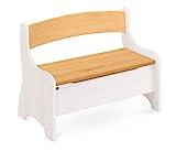 BioKinder 24785 Levin Kindersitzbank Sitzbank Truhenbank für Kinder aus Massivholz Erle und Kiefer 70 x 36 x 55 cm weiß lasiert