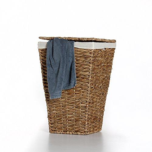 """Casa Mina Wäschekorb Wäschebox Wäschesammler aus Wasserhyazinthe""""Brunei"""" 50cm"""