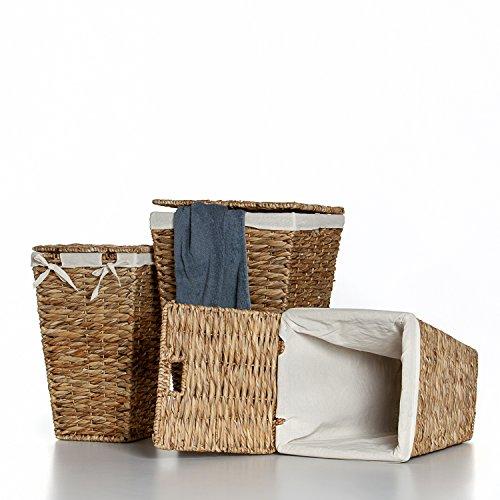 Casa Mina Wäschekorb Wäschebox Wäschesammler aus Wasserhyazinthe