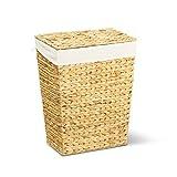 Wäschekorb MARKUS 40x30x50 cm (L/B/H), Wäschebox, inkl. Wäschesack aus Baumwolle, Volumen: 60 Liter – Premium Wäschetruhe