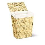 Wäschekorb MARKUS, 34x34x43 oder 40x30x50 cm (L/B/H), Wäschebox, inkl. Wäschesack aus Baumwolle, Volumen: ca. 35 bzw. 60 Liter – Premium Wäschetruhe - 2