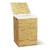 Wäschekorb TOM, 46x46x70 cm (L/B/H), Wäschebox, inkl. Wäschesack aus Baumwolle, Volumen: ca. 140 Liter  Wäschetruhe - 2