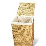 Wäschekorb TOM, 46x46x70 cm (L/B/H), Wäschebox, inkl. Wäschesack aus Baumwolle, Volumen: ca. 140 Liter  Wäschetruhe - 4