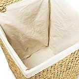 Wäschekorb TOM, 46x46x70 cm (L/B/H), Wäschebox, inkl. Wäschesack aus Baumwolle, Volumen: ca. 140 Liter  Wäschetruhe - 5