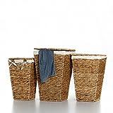 Casa Mina Wäschekorb Wäschebox Wäschesammler aus Wasserhyazinthe Brunei 61cm - 2