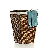 Casa Mina Wäschekorb Wäschebox Wäschesammler aus Wasserhyazinthe Brunei braun 61cm
