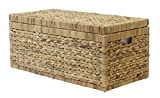 Artra Design Geflecht Truhe 'Linus' mit Klappdeckel 80 cm, Natur BSCI atmungsaktiv Aufbewahrungsbox mit Deckel Aufbewahrungskiste Aufbewahrungstruhe