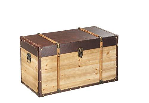 Truhe Schatztruhe Piratentruhe Panama-V - Holz - 70x35x39 cm