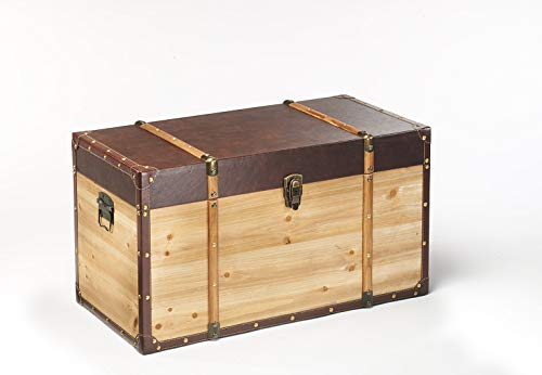 Truhe Schatztruhe Piratentruhe Panama-V - Holz - 70x35x39 cm - 2